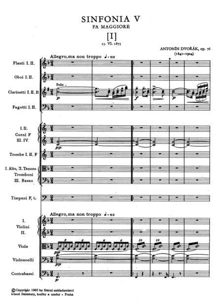 Symphony No. 5 F major op. 76