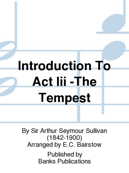 Introduction To Act Iii -The Tempest