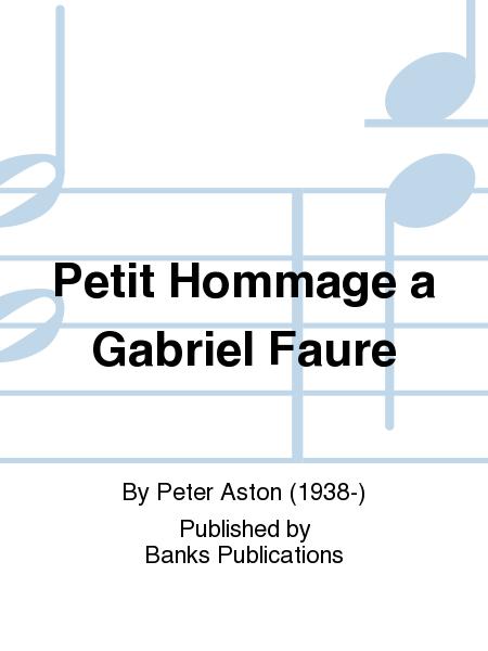 Petit Hommage a Gabriel Faure