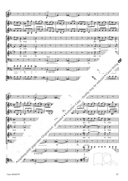 Grosse Orgelsolomesse in Es