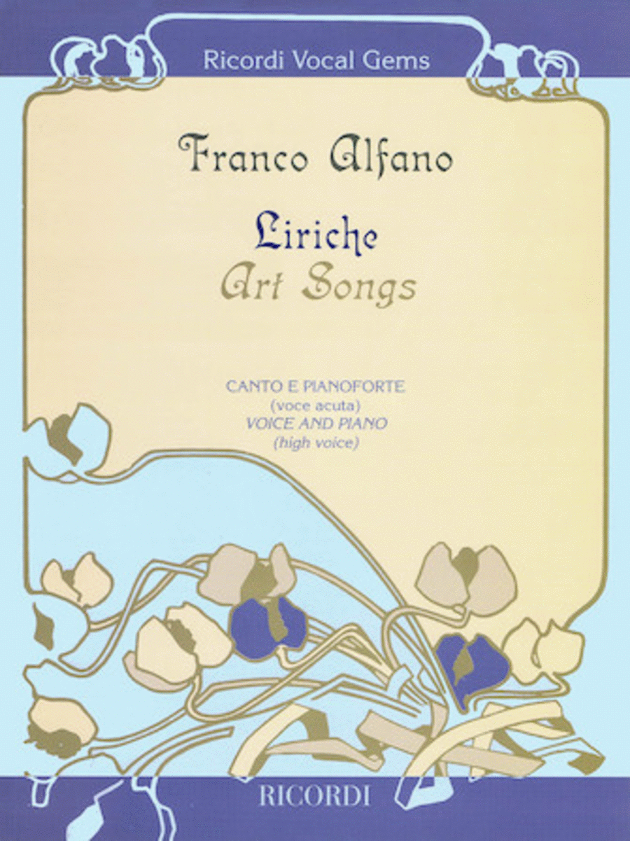 Liriche: Art Songs For High Voice And Piano