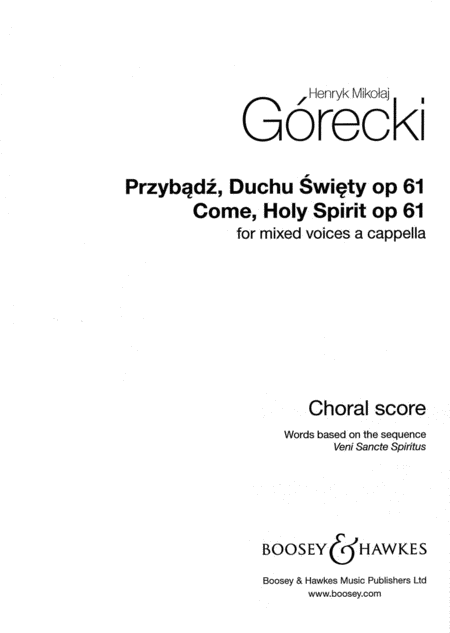 Come, Holy Spirit, Op. 61