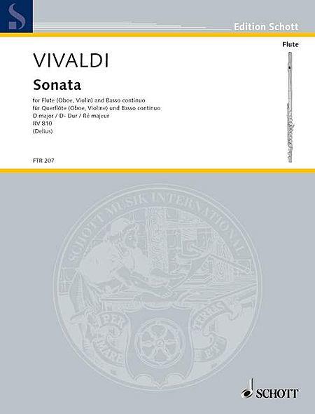 Vivaldi: Sonata For Flute (Oboe Or Violin) And Basso Continuo in D Major RV810