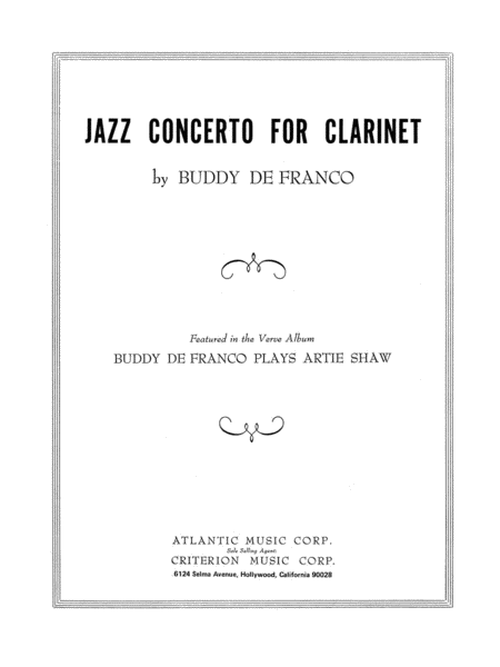 Jazz Concerto for Clarinet