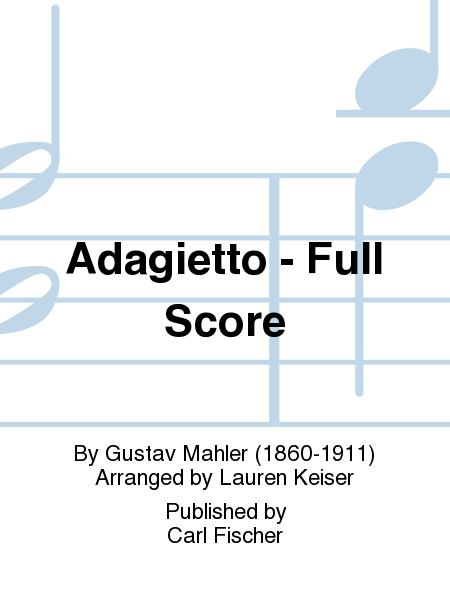 Adagietto - Full Score