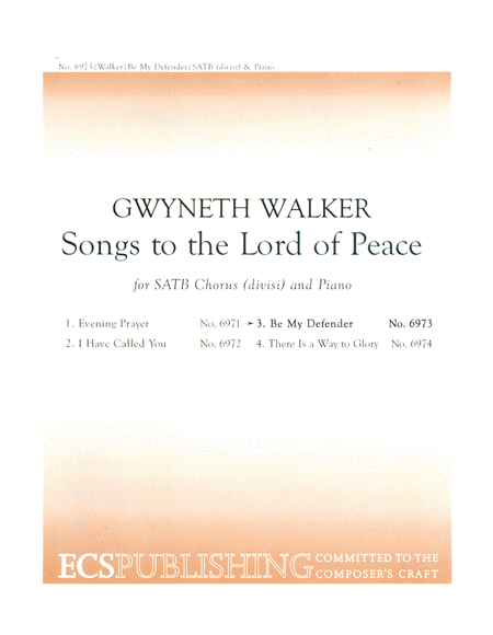 Songs to the Lord of Peace: No. 3 Be My Defender