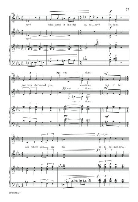 Three Songs of Emily Dickinson for Women's Choir