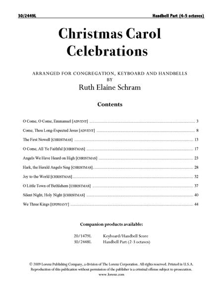 Christmas Carol Celebrations - Reproducible Handbell Part (4-5 octaves)