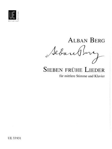Sieben Fruhe Lieder (Seven Early Songs)