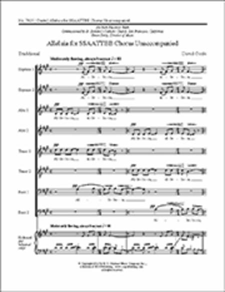 Alleluia for SSAATTBB Chorus Unaccompanied