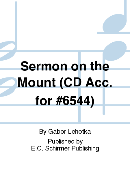 Sermon on the Mount (CD Acc. for #6544)