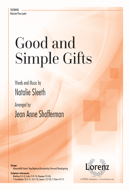 Good and Simple Gifts