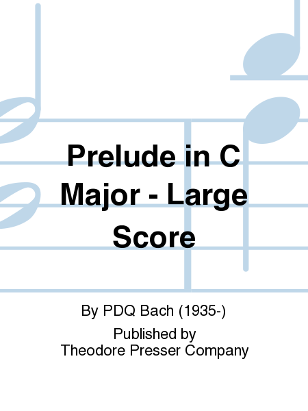 Prelude in C Major - Large Score