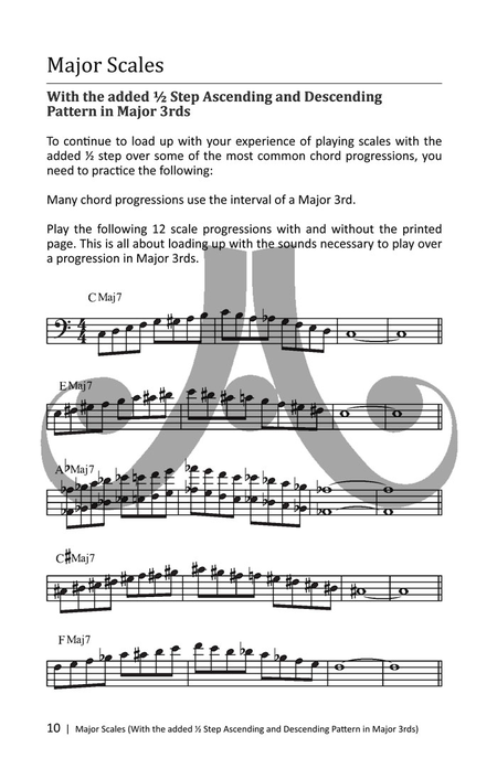 Bebop Scales: Jazz Scales And Patterns In All 12 Keys- Bass Clef