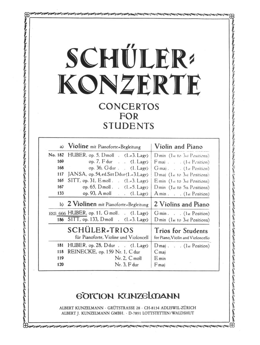 Student Concerto in g minor ,Op. 11
