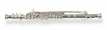 Silver brooch : flute