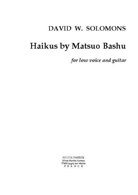 Haikus By Matsuo Basho