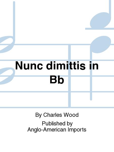 Nunc dimittis in Bb