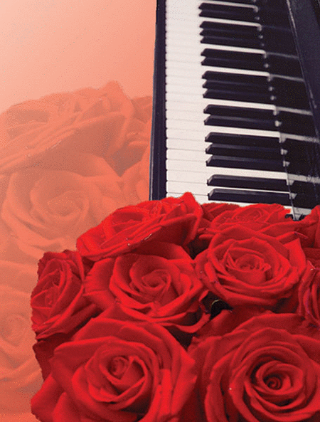 Greeting Cards: Roses and Keyboard (Pack of 12)