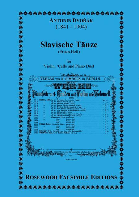 Slavische Tanze or Taenze or Tanze) (I)