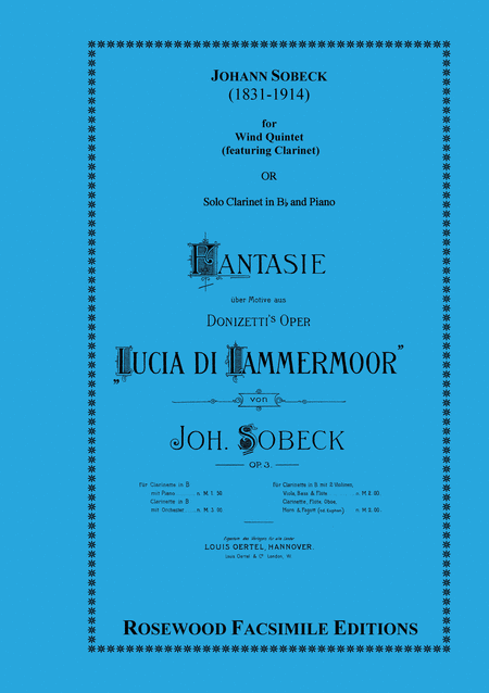 Fantasie, Op. 3 on a theme from Donizetti's Lucia di Lammermoor