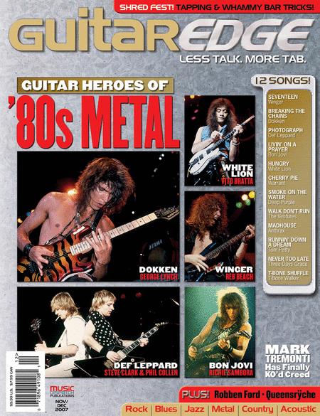 Guitar Edge Magazine Back Issue - Nov/Dec 2007