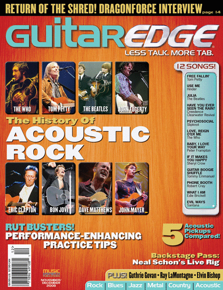 Guitar Edge Magazine Back Issue - Nov/Dec 2008