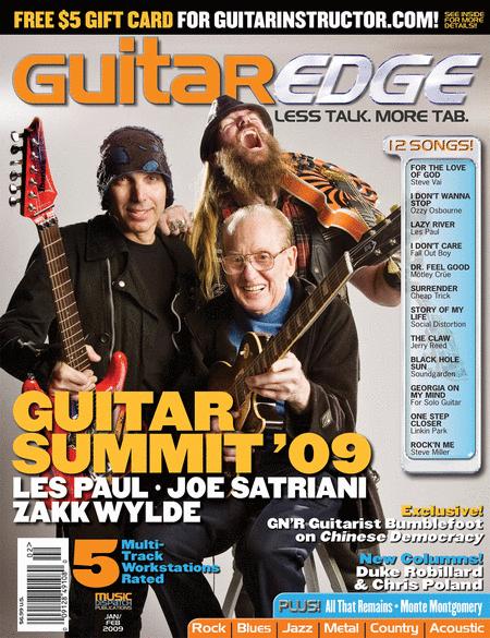 Guitar Edge Magazine Back Issue - Jan/Feb 2009