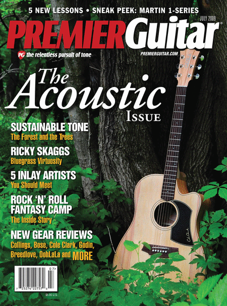 Premier Guitar Magazine Back Issue - July 2009