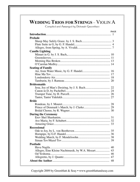 Wedding Trios for Strings Violin, Viola, and Cello (3 books)