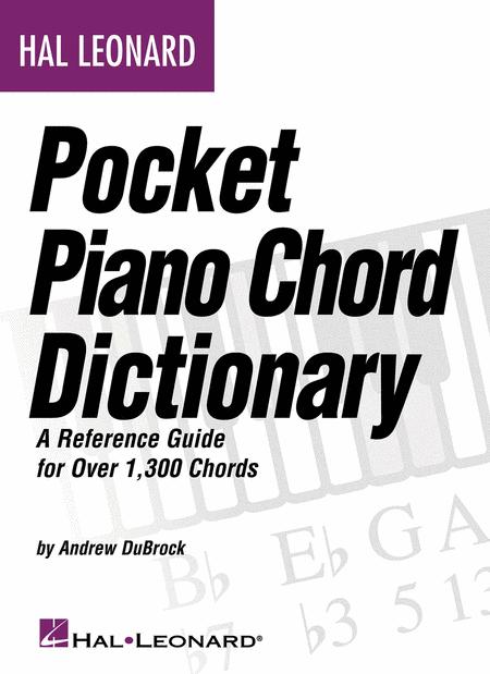 Hal Leonard Pocket Piano Chord Dictionary