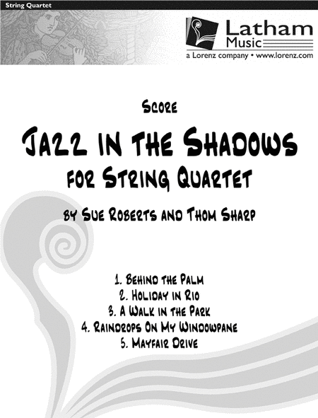 Jazz in the Shadows for String Quartet - Score