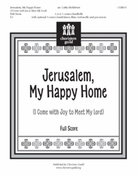 Jerusalem, My Happy Home - Full Score and Reproducible Parts