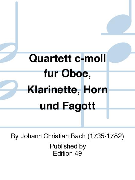 Quartett c-moll fur Oboe, Klarinette, Horn und Fagott