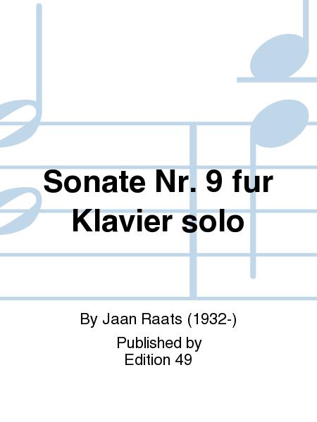 Sonate Nr. 9 fur Klavier solo
