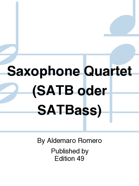 Saxophone Quartet (SATB oder SATBass)
