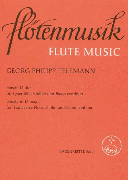 Sonata for Flute, Violin and Basso continuo D major TWV 42:D4