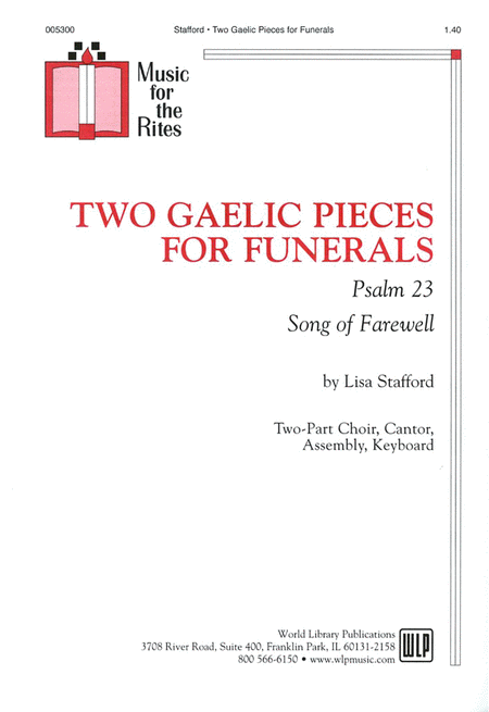Two gaelic pieces for funerals psalm 23 songs for farewell quot sheet