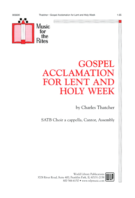 Gospel Acclamation for Lent and Holy Week