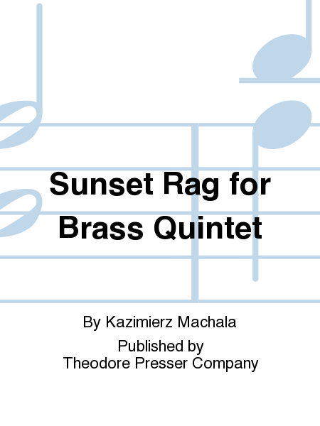 Sunset Rag for Brass Quintet
