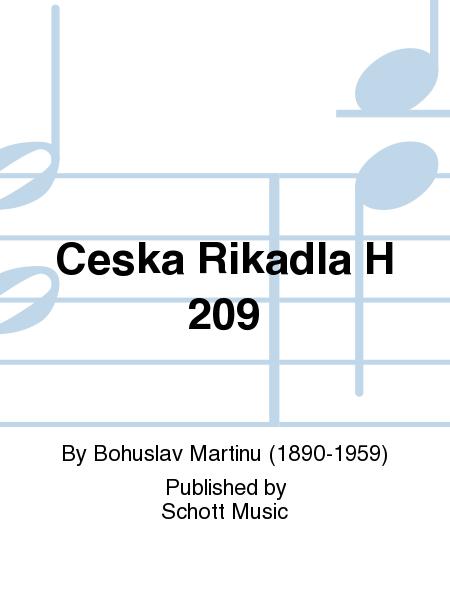 Ceska Rikadla H 209