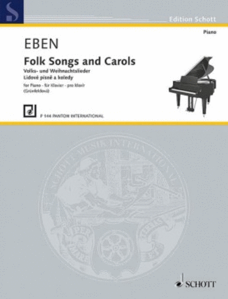 Folk Songs and Carols for piano in a easy style