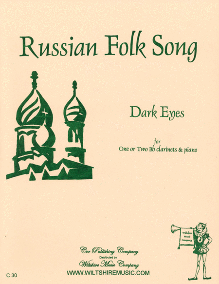 Dark Eyes - Russian Folk Song Sheet Music By Anonymous ...