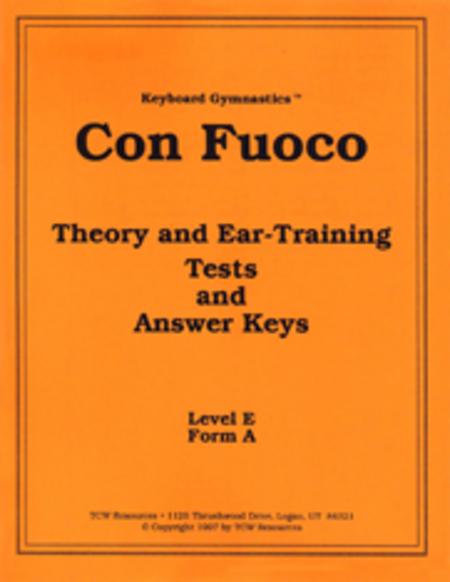 Con Fuoco Theory and Ear-Training Answer Key
