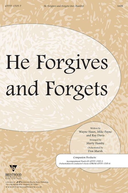 He Forgives and Forgets (Orchestra Parts and Conductor's Score, CD-ROM)