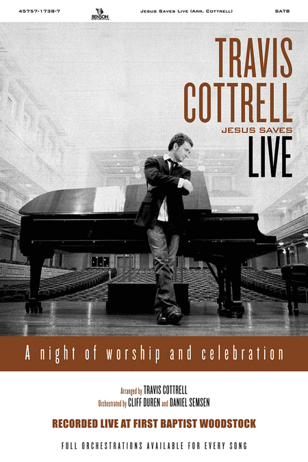Travis Cottrell Live Jesus Saves (Split Track Accompaniment CD)
