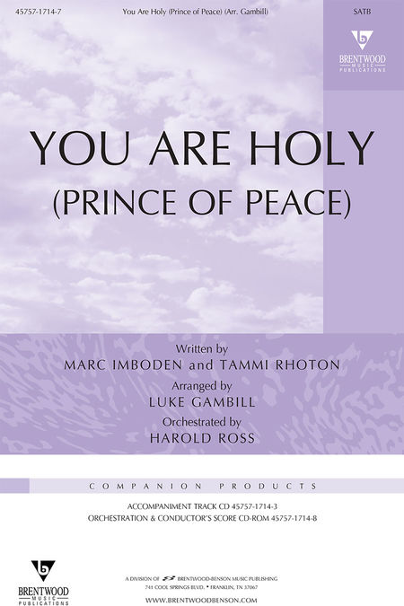 You Are Holy (Prince Of Peace) (Split Track Accompaniment CD)