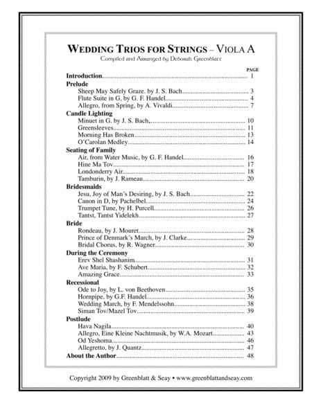 Wedding Trios for Strings Viola A