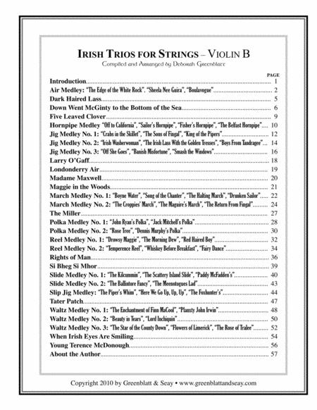 Irish Trios for Strings Violin B
