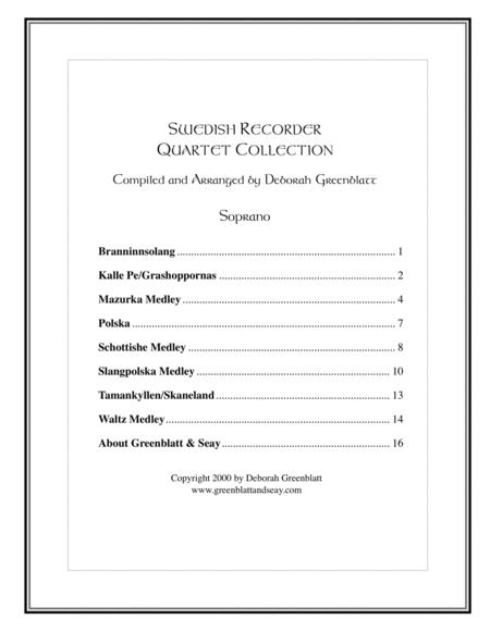 Swedish Recorder Quartet Collection - Parts